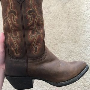 Justin's leather cowboy boots